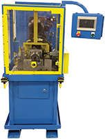 Tube grooving machine for rolling or cutting operations.